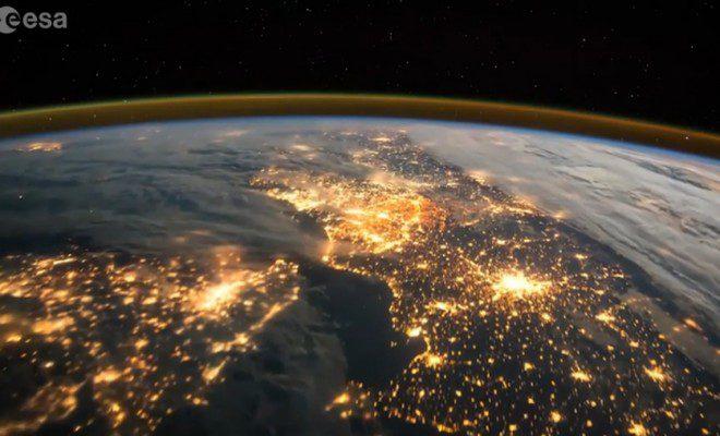 Europe de nuit depuis l'ISS