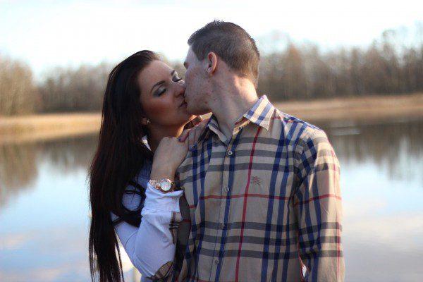 S'embrasser en fermant les yeux