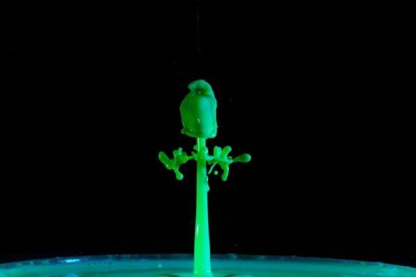 Du liquide vert