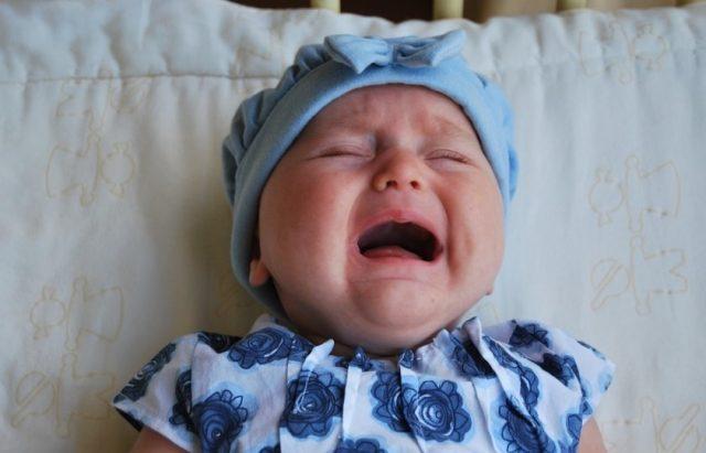 Les pleurs d'un bébé