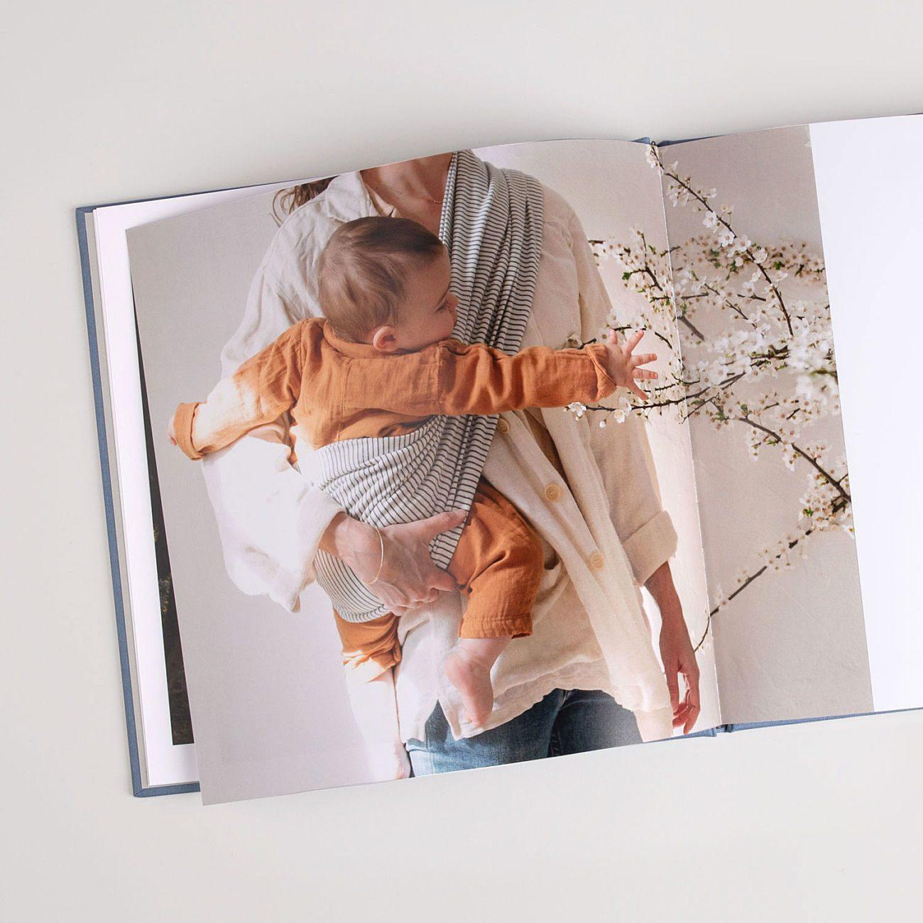 livre photo couverture tissu